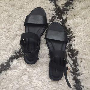 Black Forever21 Buckle Sandals